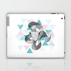 Geometric snake attack Laptop & iPad Skin