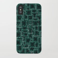 The Maze - Teal Slim Case iPhone X