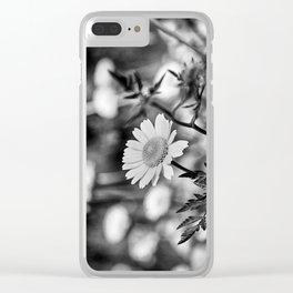 Singularity III - Black & White Clear iPhone Case
