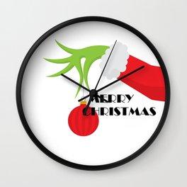 Merry Cristmas Grinch Wall Clock
