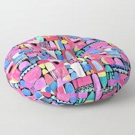PInk Delaunay Floor Pillow