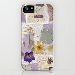 Lavender Collage iPhone Case