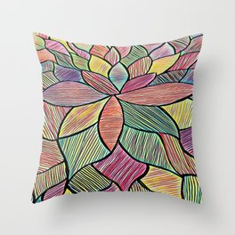 Blossoming Thoughts Throw Pillow