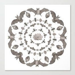 Bats Mandala Canvas Print