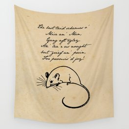 To a Mouse - Robert Burns - Mice and Men Wall Tapestry