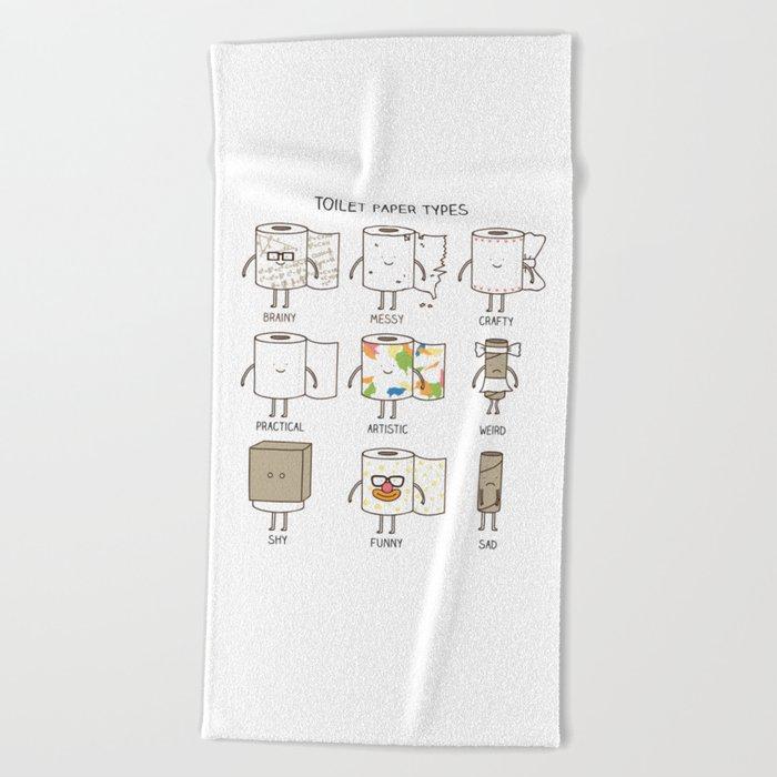 toilet paper types Beach Towel