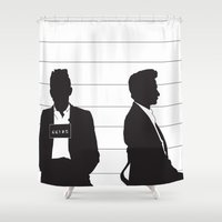 johnny cash Shower Curtains featuring Johnny Cash by Jarom Ward