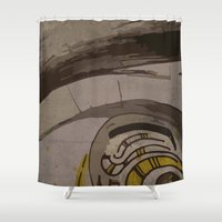 quibe Shower Curtains featuring Abstraction INC II by Magdalena Hristova