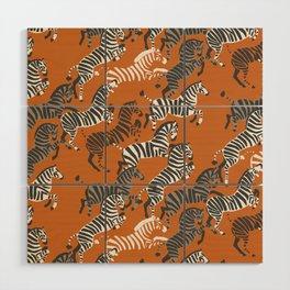 Zebra Race Wood Wall Art