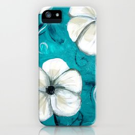 Flowers in Oil iPhone Case