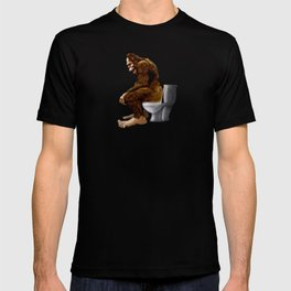 Bigfoot breaks into some Dude's Cabin and Totally takes a fat Dump in his toilet T-shirt