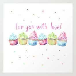 For You with Love Art Print