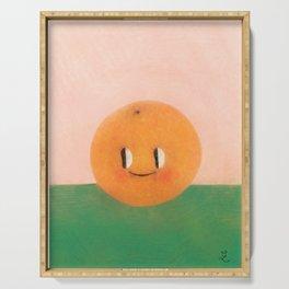 Happy happy Tangerine Serving Tray