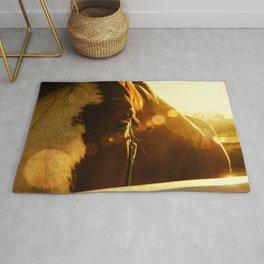 Evening Flare Horse - Animal Photography - Farm Animal - Pet Rug