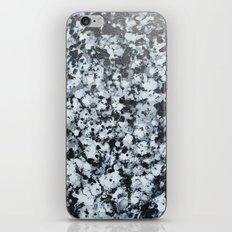 untitled (4456 bklack and white) iPhone Skin