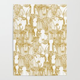 just cattle gold white Poster