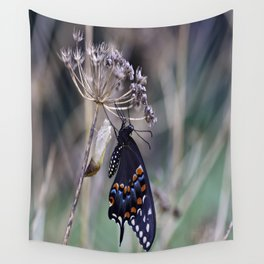 Butterfly emerging from cocoon Wall Tapestry