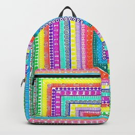 Rainbow Squared Backpack