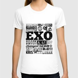 EXO Font Collage T-shirt