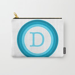 Blue letter D Carry-All Pouch