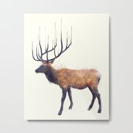 Elk // Reflect (Left) Metal Print