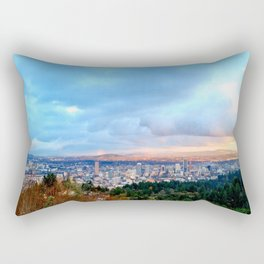 DOWNTOWN PORTLAND - SUMMER Rectangular Pillow