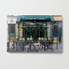 Paris Restaurant in the Marais Metal Print
