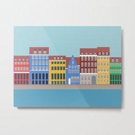Nyhavn, Copenhagen, Denmark - North Metal Print