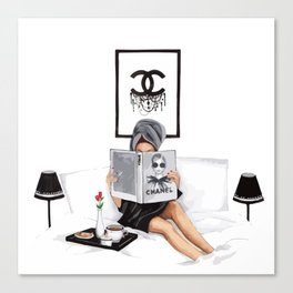 Relax reading Canvas Print