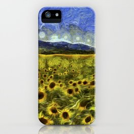 Sunflower Dreams Van Gogh iPhone Case