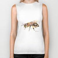 bee Biker Tanks featuring Bee by Elena Sandovici