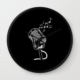 Microphone Karaoke Bar Music Lover Musical Singer Wall Clock