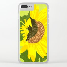 Sunflower: half open Clear iPhone Case
