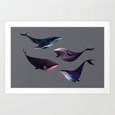 Galactic Whales Art Print