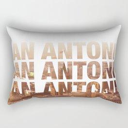 San Antonio Landscape Rectangular Pillow
