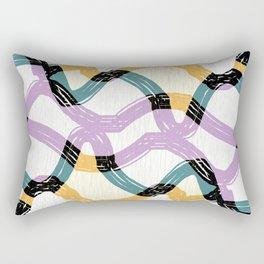 Weave abstract art Rectangular Pillow