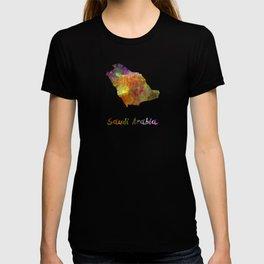Saudi Arabia in watercolor T-shirt