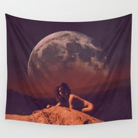 mercedes Wall Tapestries featuring moon bb by mercedes