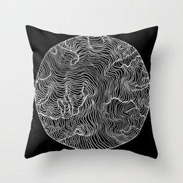 Black Riptide Throw Pillow