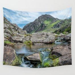 Tryfan Mountain Stream  Wall Tapestry