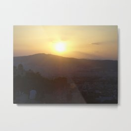 Sunset in Athens - Greece Metal Print