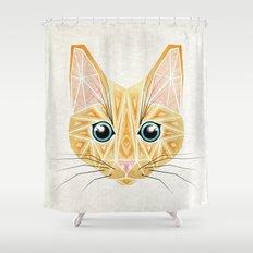 orange cat Shower Curtain