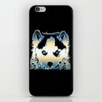 husky iPhone & iPod Skins featuring husky by AngelaArt