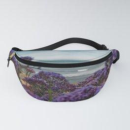 Cute Purple WildFlowers on the California Coast Spring Superbloom Fanny Pack