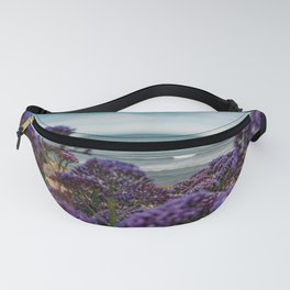 Cute Purple WildFlowers on the California Coast Spring Superbloom Fanny Pack