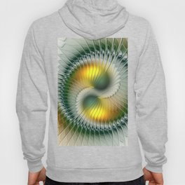 Like Yin and Yang, Abstract Fractal Art Hoody