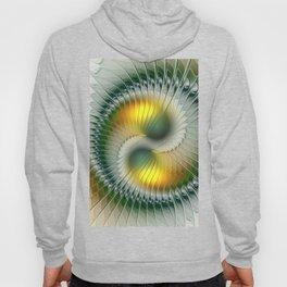 Like Yin and Yang, Abstract Fractal Art Hoody