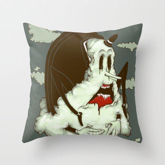 Creep Cloud Face Melt Throw Pillow