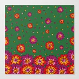 Retro Blooming Canvas Print