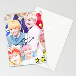 Woozi Collage Stationery Cards